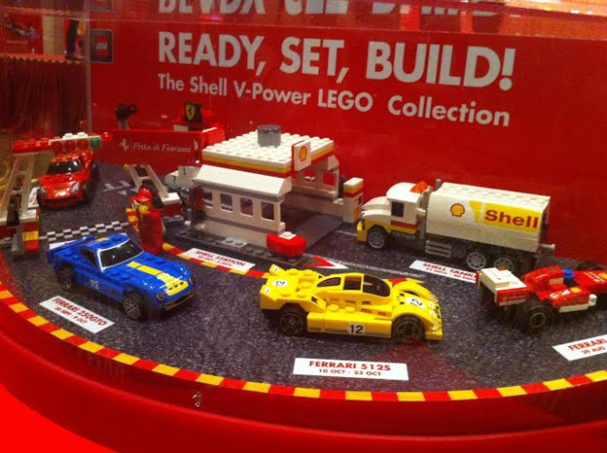 Ready, set, build Shell's V-Power Lego collection features 6 different packs to collect