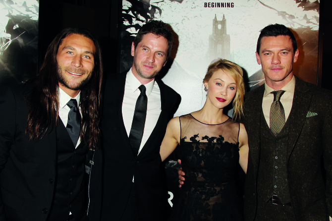 From left: Actor Zach McGowan (Shklegim), director Gary Shore, and main leads Sarah Gadon and Luke Evans