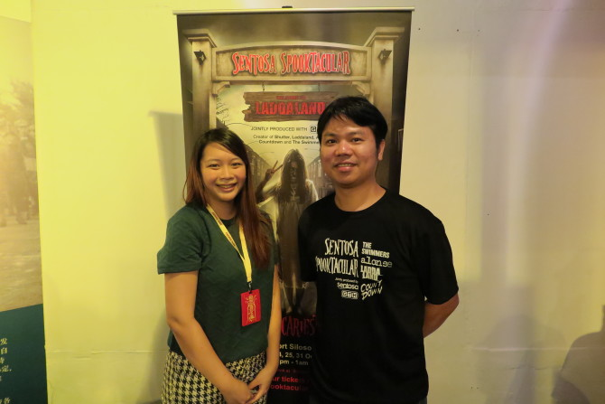 Director Parkpoom Wongpoom right and me
