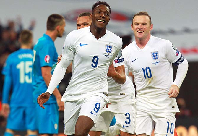 Friend turned foe: Will Danny Welbeck show Wayne Rooney  the grass is greener on the other side? Photo: EPA