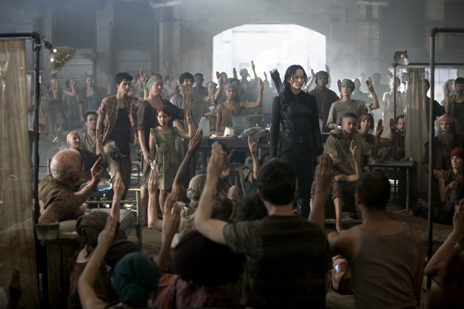 Katniss visits the other Districts to rally support for revolution