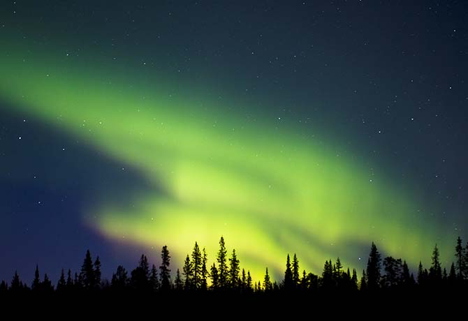 If you're lucky, you can catch sight of the aurora in Kiruna, Sweden