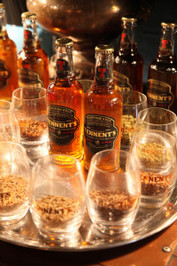 Tennent's Whisky Oak Beer. The masculine bottle design that contains a gentle and lovely brew.