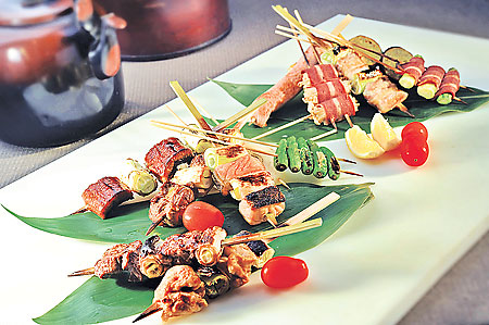 Experience Char-Grill at retro-hip sumiya smoking Skewers DIY Charcoal
