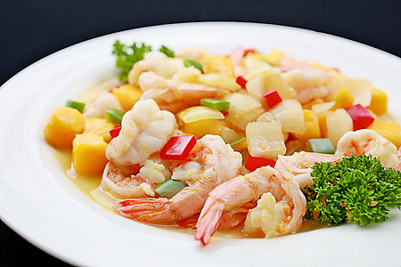 Recipe stir fried sakura prawns with mango cook yourself do it yourself how to cuisine dining