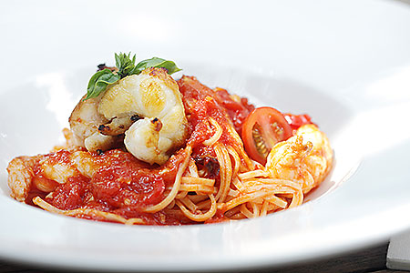tagliolini with slipper lobster & tomato sauce dining recipe do it yourself cook prepare how to make ingredients method preparation instructions