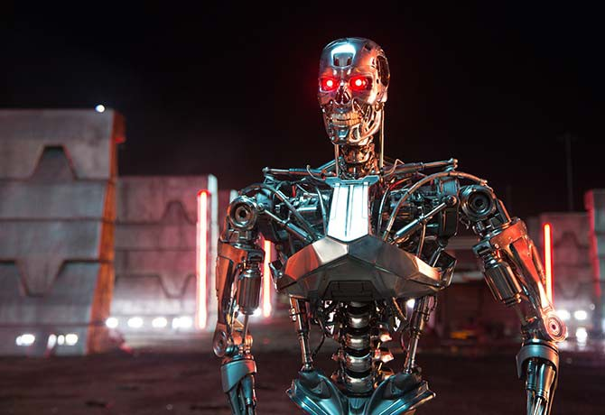 31 years after the original, the Terminator is back in another sequel and  bad to the bone