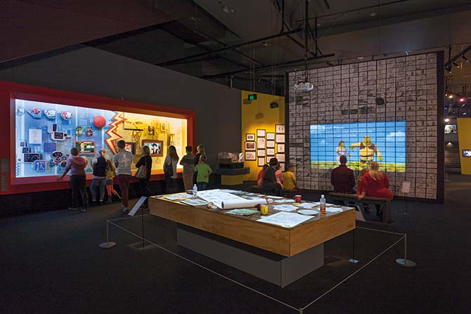 Step into a reconstruction of DreamWorks' real-life workspaces (Photo: Mark Ashkanasy)