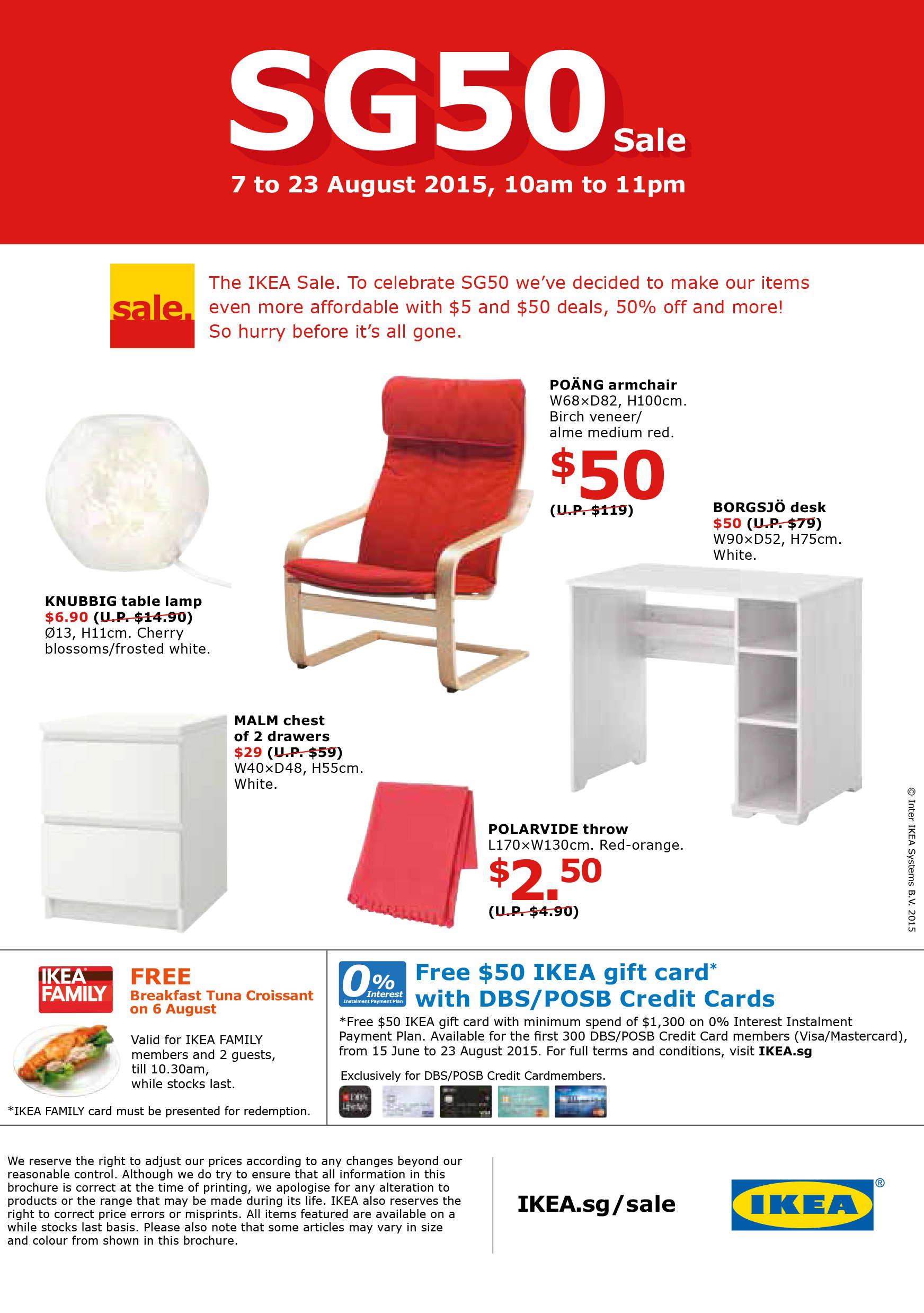 celebrate sg50 with ikea 39 s mega sale and great deals weekender singapore. Black Bedroom Furniture Sets. Home Design Ideas