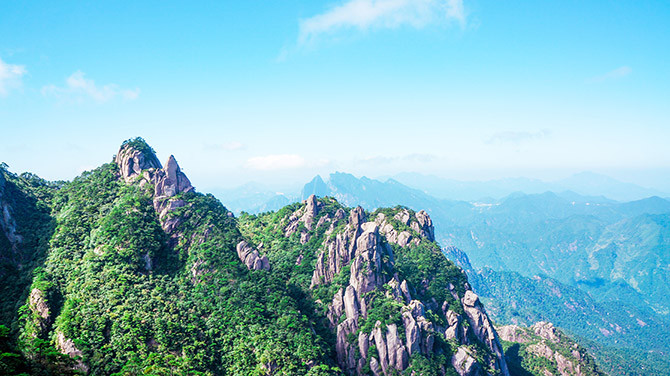 Mt Sanqing has been described as one of China's most beautiful mountains