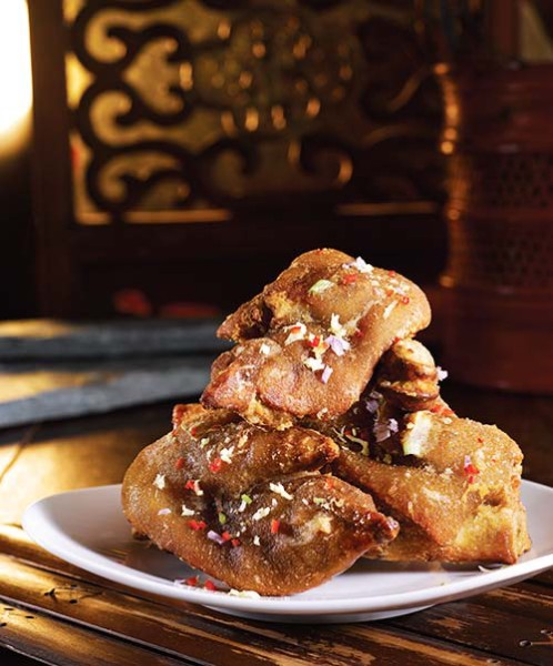 Deep Fried Pigs Trotter with Salt and Pepper