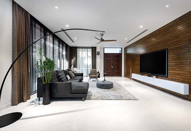A neutral colour palette sets the scene for a relaxed atmosphere