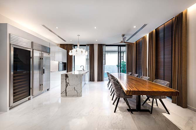 Entertain a lot? Consider a combined dining room and dry kitchen