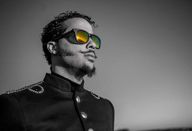 Sky Blu, or Skyler Gordy, is setting himself apart from his persona in LMFAO (Photo: JustFeng)