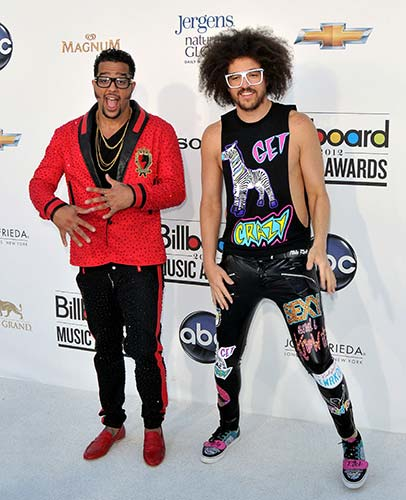 Once the rapper of flamboyant electronic-dance duo LMFAO, Sky Blu (left) will be bringing his own personal style to The Podium Lounge Grand Prix after-party (Photo: carrie-nelson / Shutterstock.com)