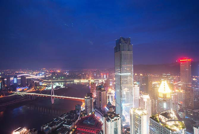 Chongqing's skyscrapers seem to defy the land's physical constraints (Photo: Yangchao / Shutterstock)