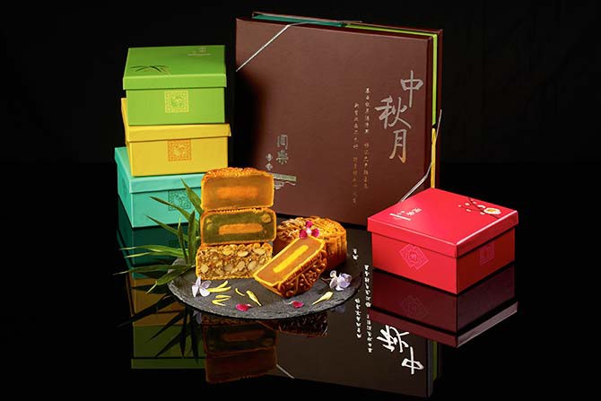 You can have mooncakes that come in vibrant compartments representing the seasons
