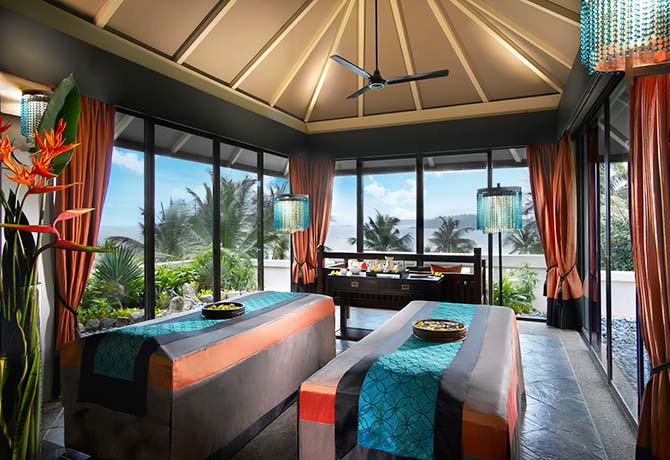 Relax in an intimate sanctuary while indulging in treatments that use natural ingredients like flowers and fruit