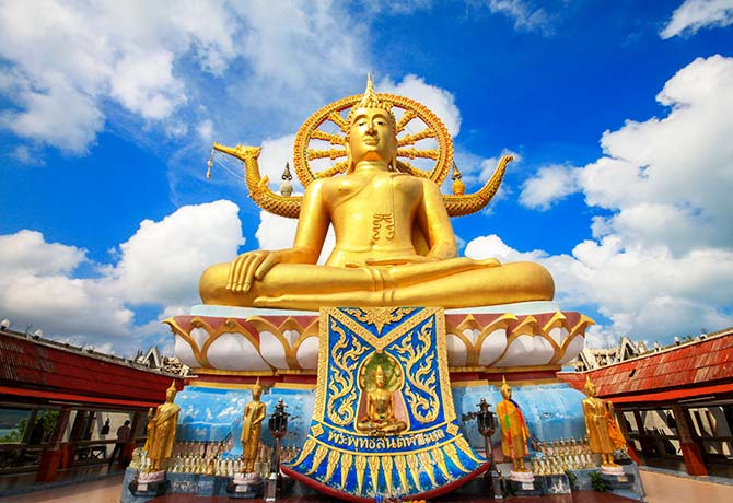 No trip to Thailand is complete without a visit to a local wat — Big Buddha, the most famous attraction in Samui, awaits