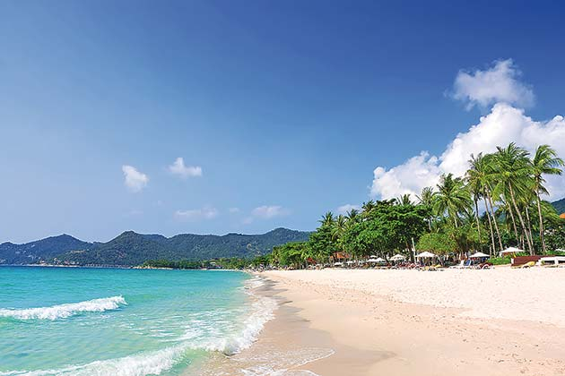 Koh Samui has fewer tourists and its weather is cooler and drier