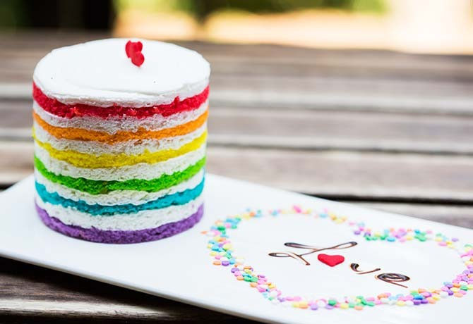 You'll want to Instagram the photogenic Rainbow Cake from Buttercake N Cream