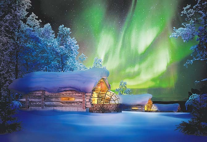 Customers enjoy the newest innovation every time they travel with EU Holidays. Those who book the 10D Aurora Hunting in Finland enjoy the latest Kelo igloo hotel with attached log cabin, sauna facility and kitchen inside