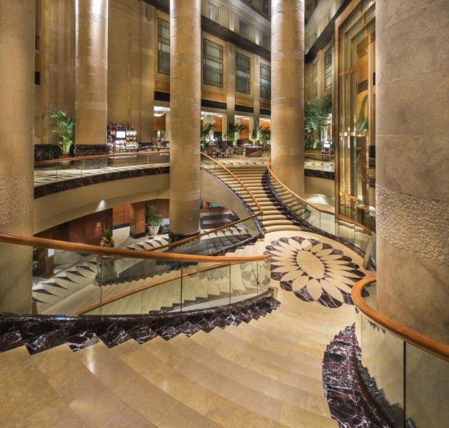 Grand Staircase (Close up) - The Fullerton Hotel Singapore
