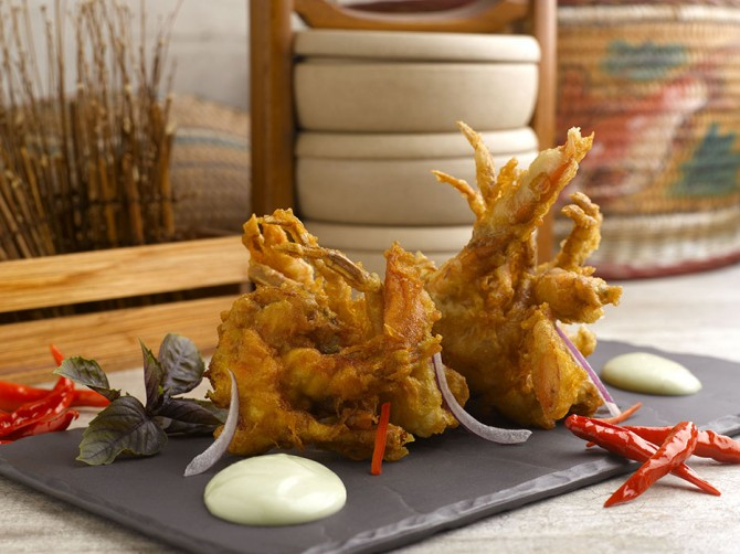 Deep Fried Soft Shell Crab with Wasabi Mayonnaise