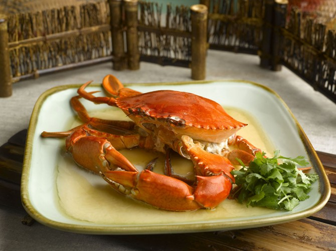 Egg White Steamed Crab