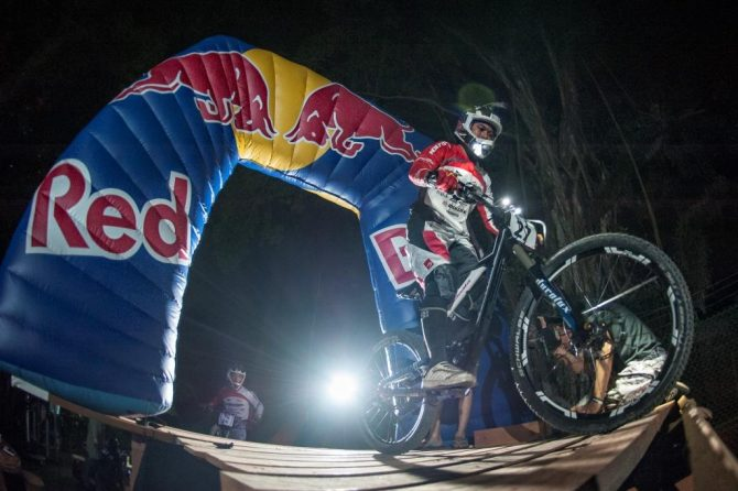Dita Pranata in action at Red Bull Dark Knights 2013, Pearl's Hill City Park, Singapore on May 18th 2013