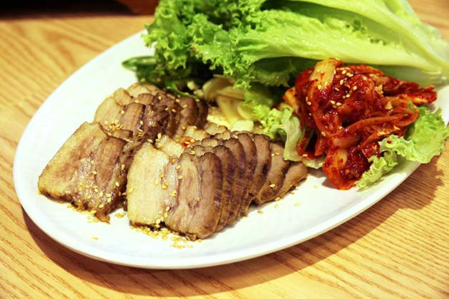 Korean Boiled Pork Wrap